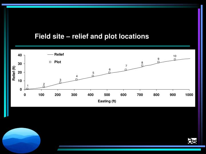 Field site – relief and plot locations