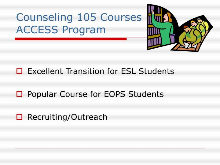 Counseling 105 Courses