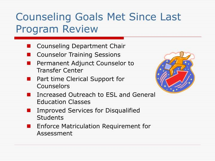 Counseling Goals Met Since Last Program Review