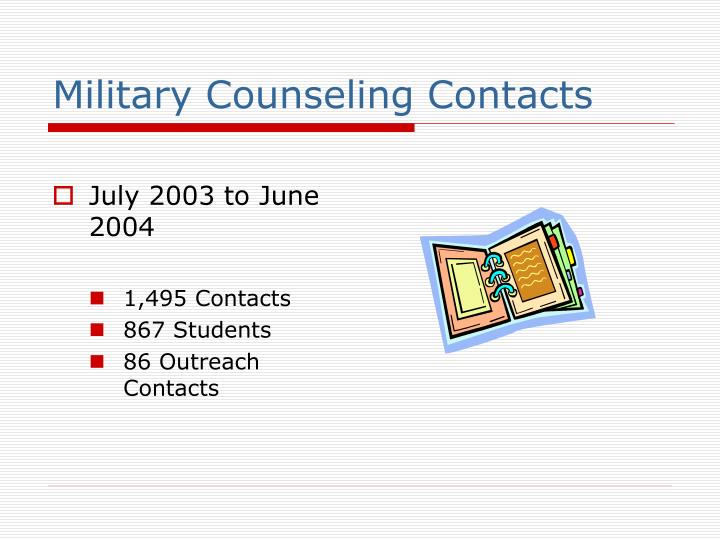Military Counseling Contacts