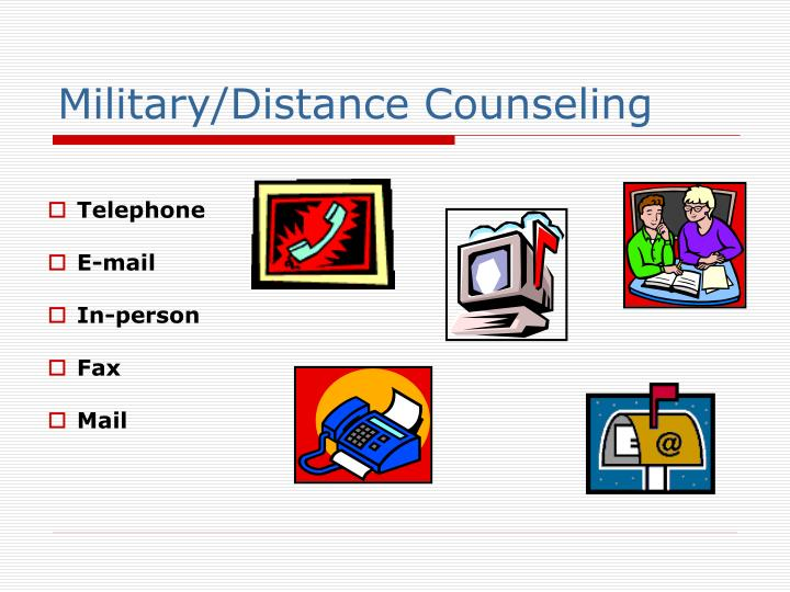 Military/Distance Counseling