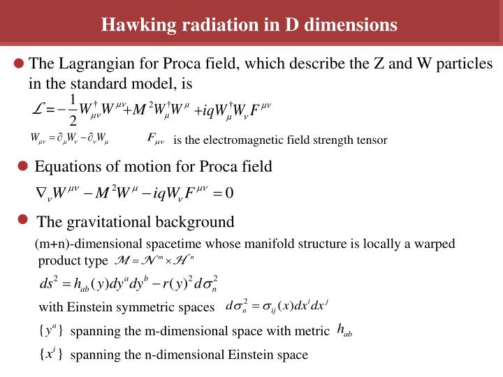 Hawking radiation in D dimensions