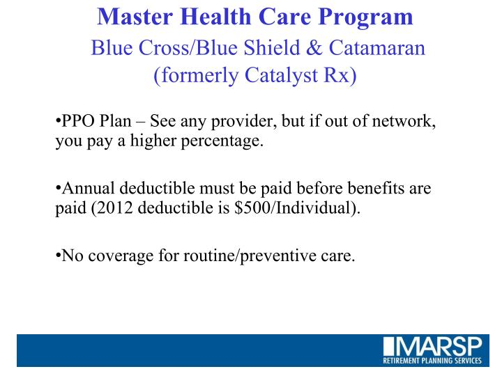 Master Health Care Program