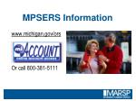 mpsers information