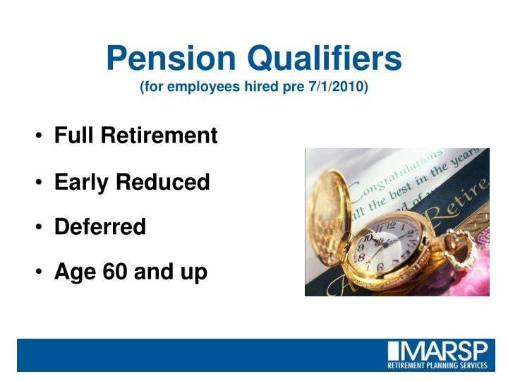 Pension Qualifiers