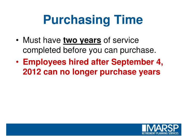 Purchasing Time