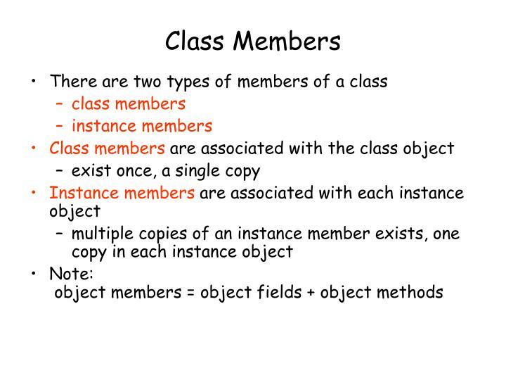 Class Members