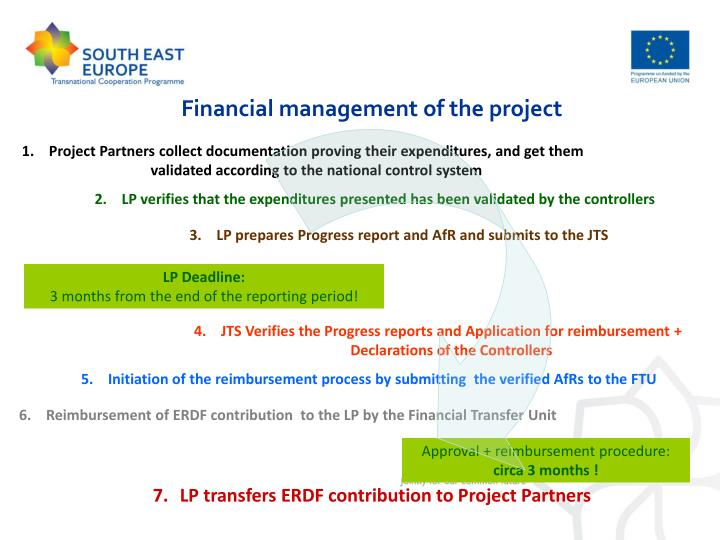 Financial management of the project