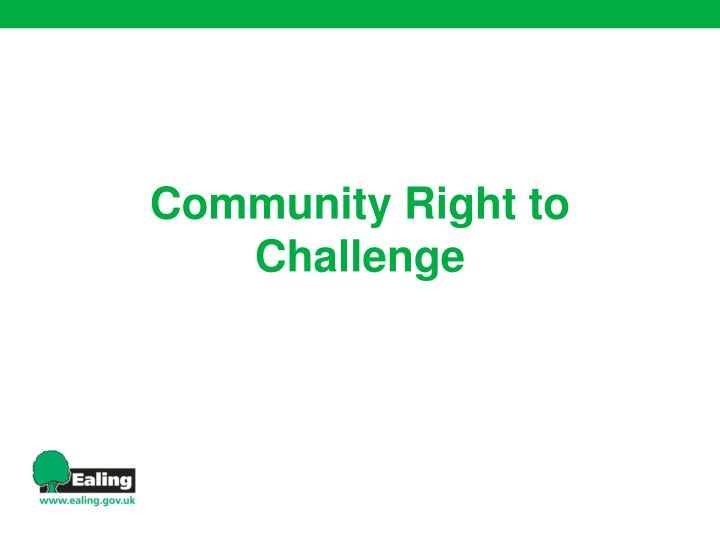 Community Right to Challenge