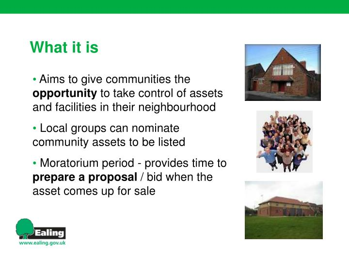 Aims to give communities the