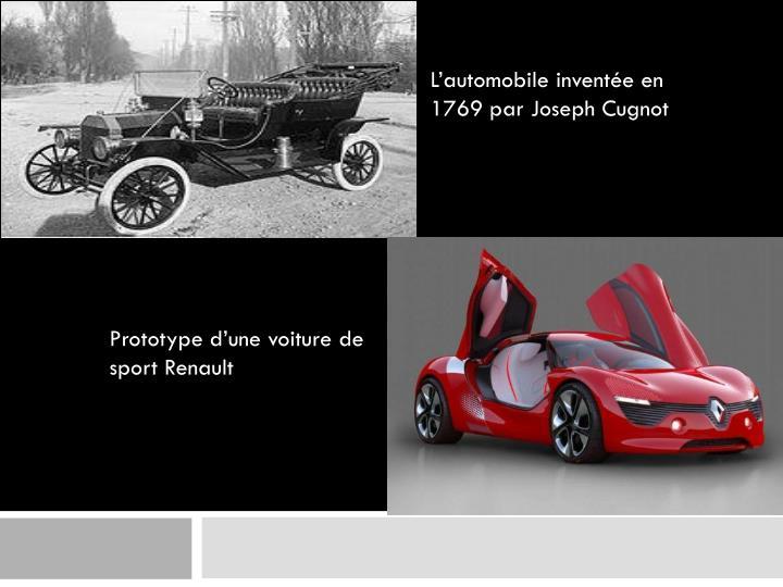 Prototype d'une voiture de sport Renault