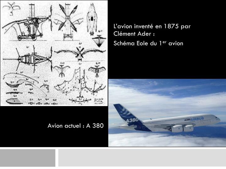 Avion actuel : A 380