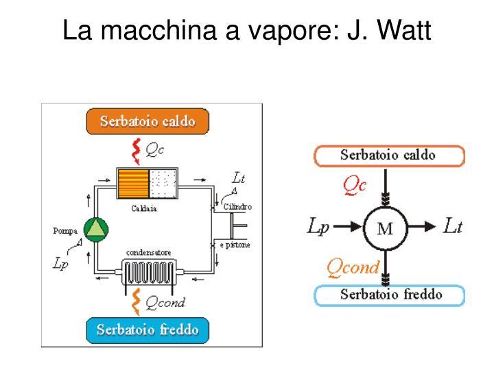 La macchina a vapore: J. Watt