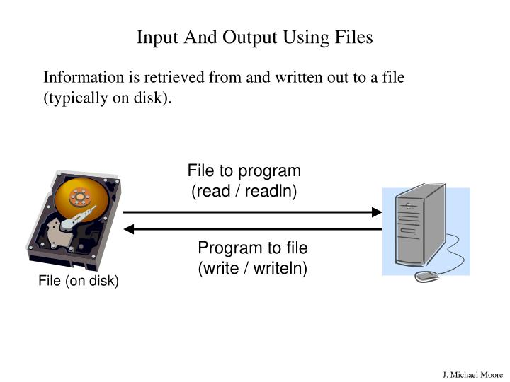 Input and output using files