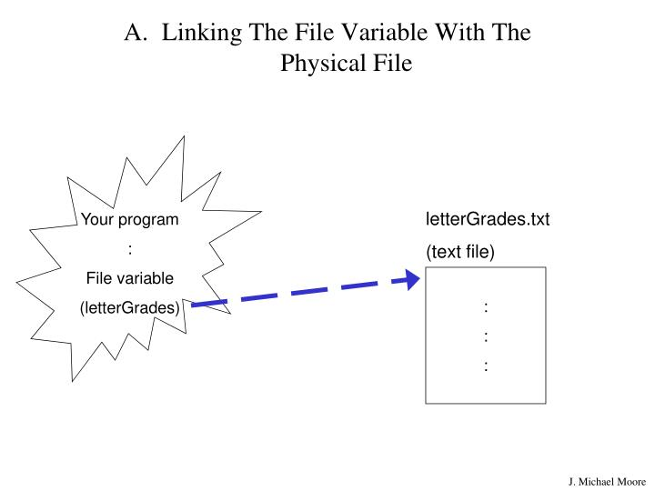 Linking The File Variable With The