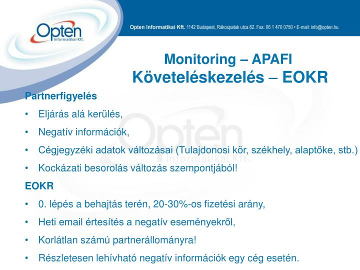 Monitoring – APAFI