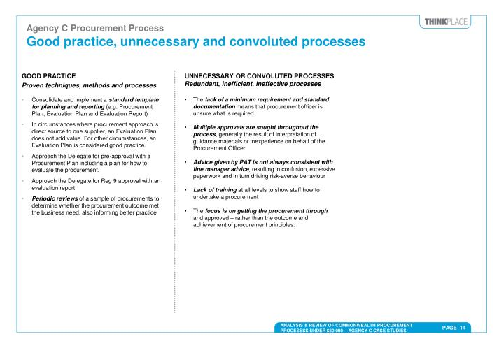 Agency C Procurement Process