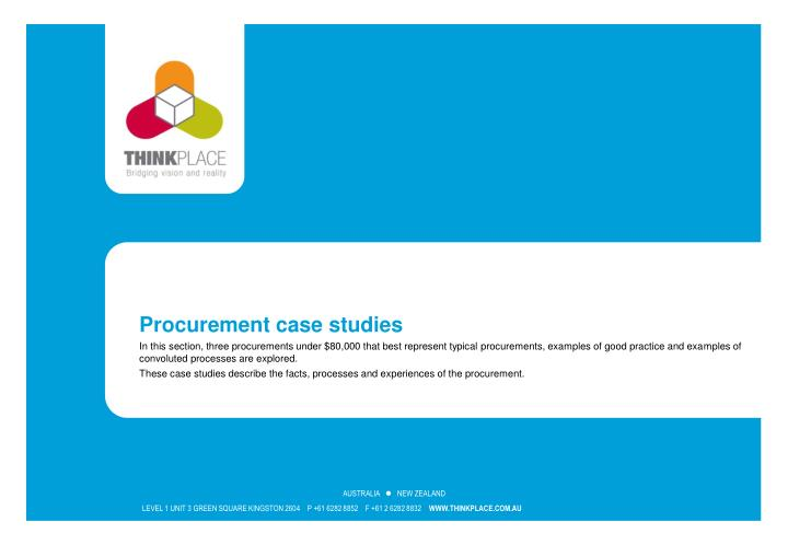 Procurement case studies