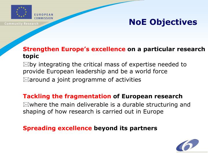 NoE Objectives