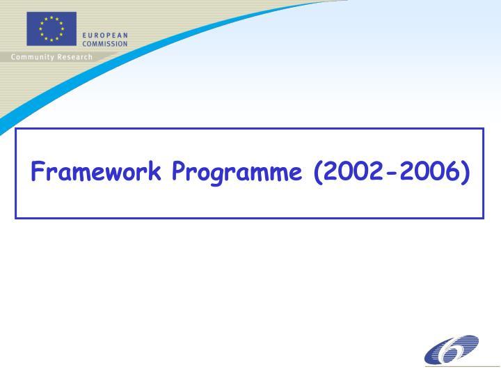 Framework Programme (2002-2006)