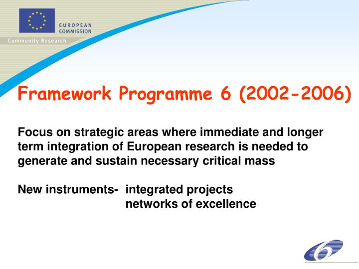 Framework Programme 6 (2002-2006)