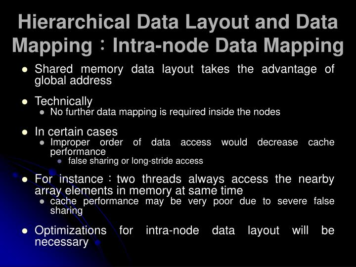 Hierarchical Data Layout and Data Mapping