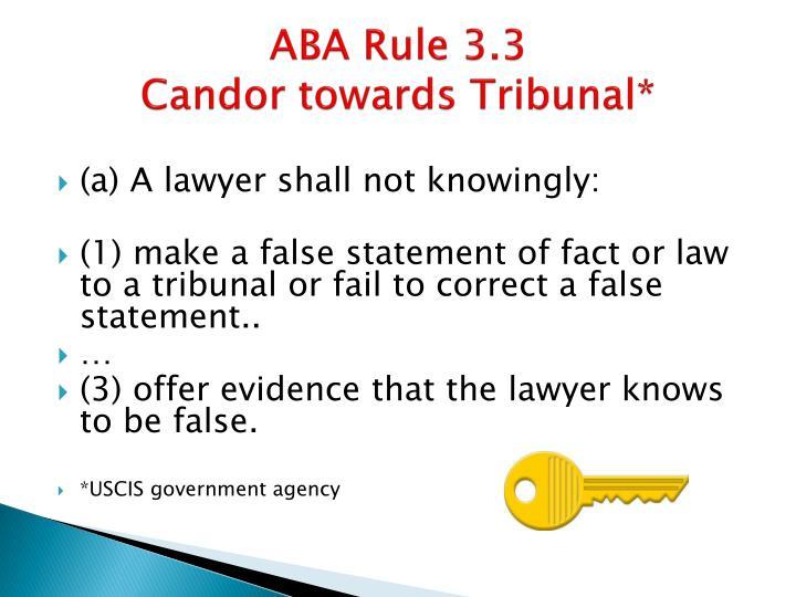 ABA Rule 3.3