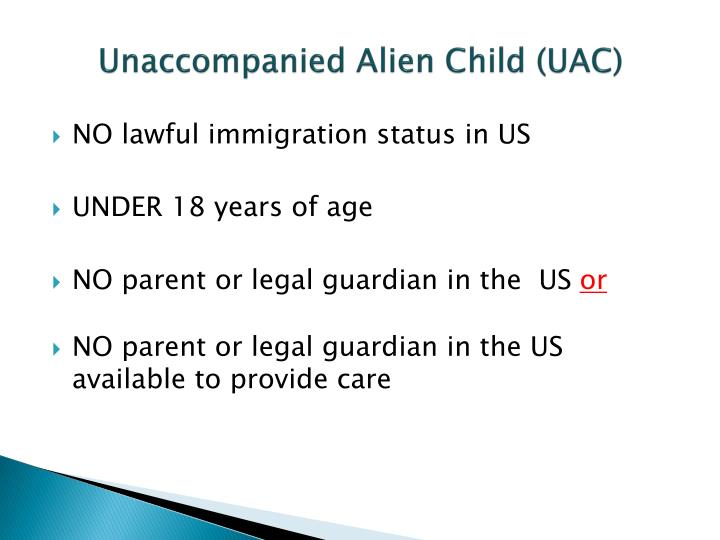 Unaccompanied alien child uac