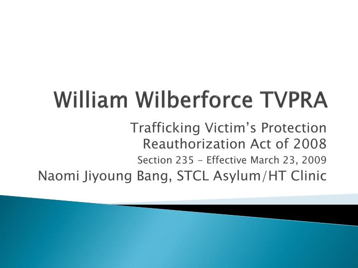 William wilberforce tvpra