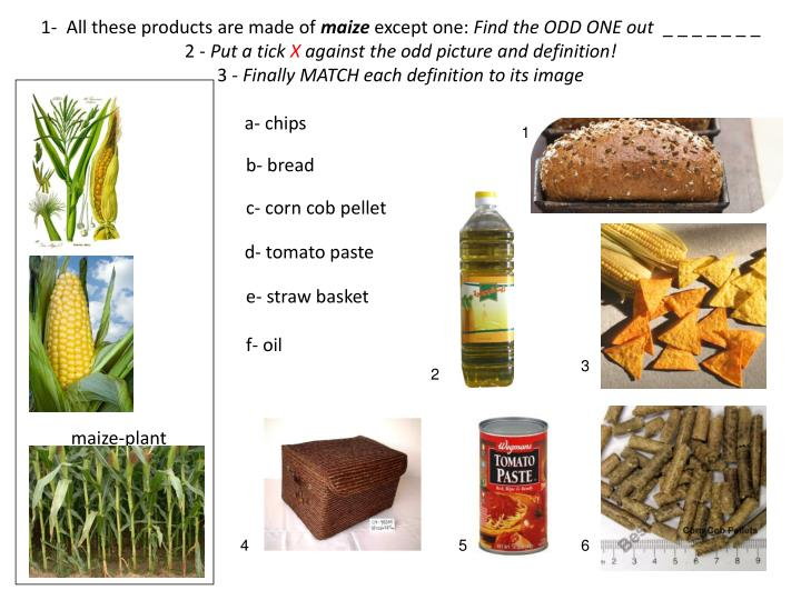 1-  All these products are made of
