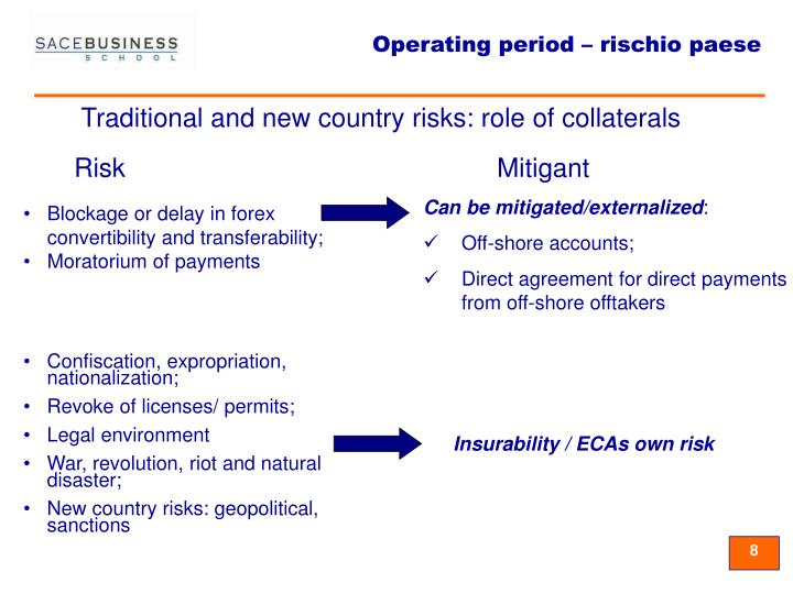 Traditional and new country risks: role of collaterals
