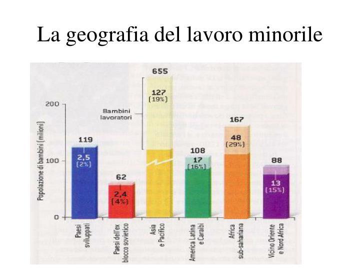 La geografia del lavoro minorile