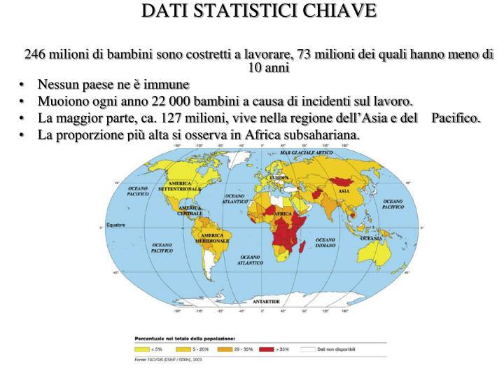 DATI STATISTICI CHIAVE