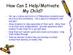 how can i help motivate my child