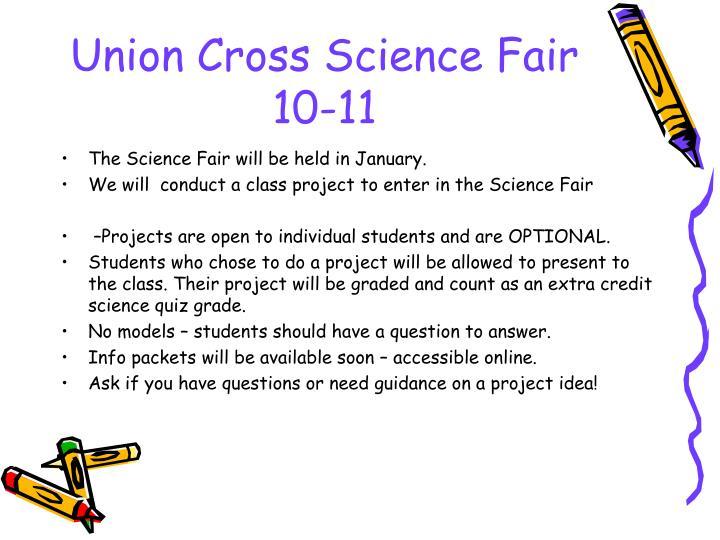 Union Cross Science Fair