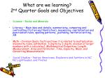 what are we learning 2 nd quarter goals and objectives