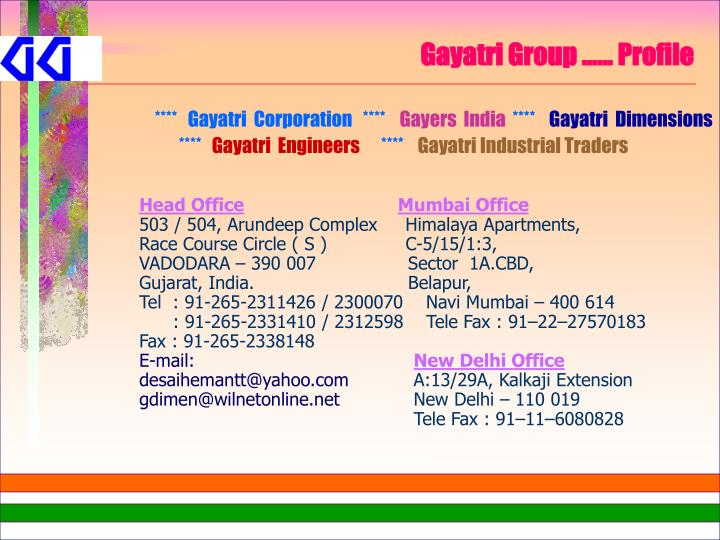 Gayatri group profile