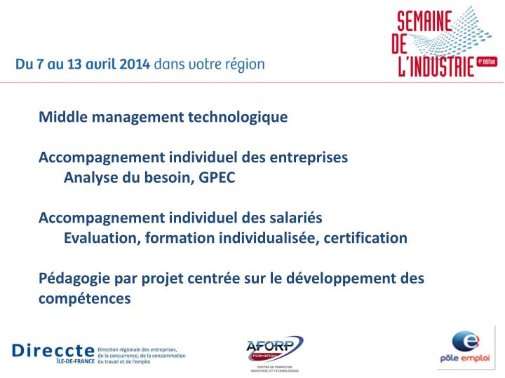 Middle management technologique