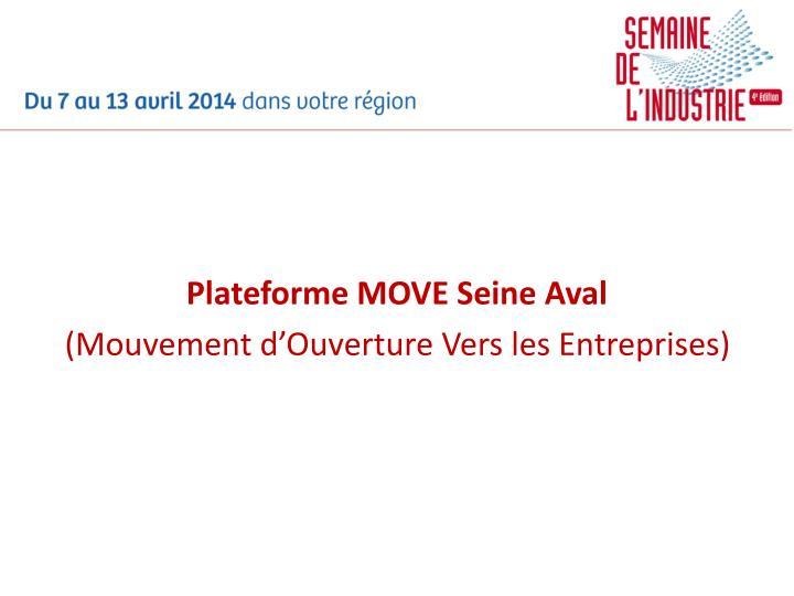 Plateforme MOVE Seine Aval