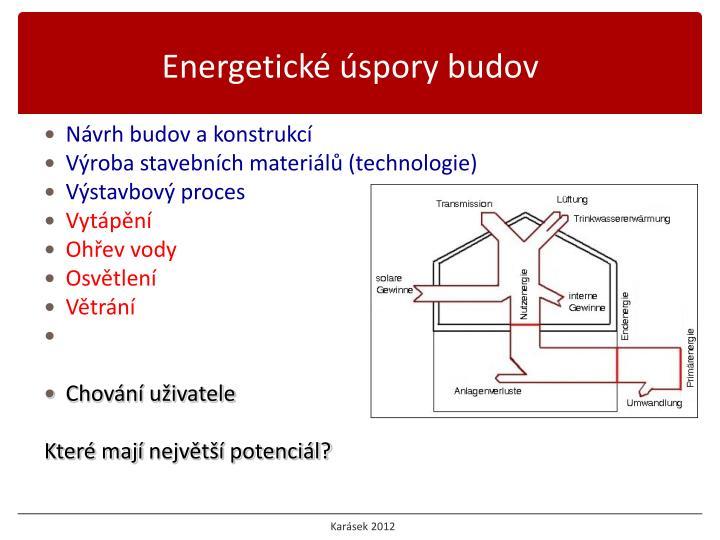 Energetické úspory budov