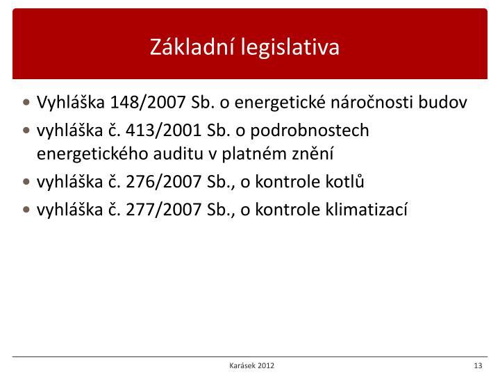 Základní legislativa
