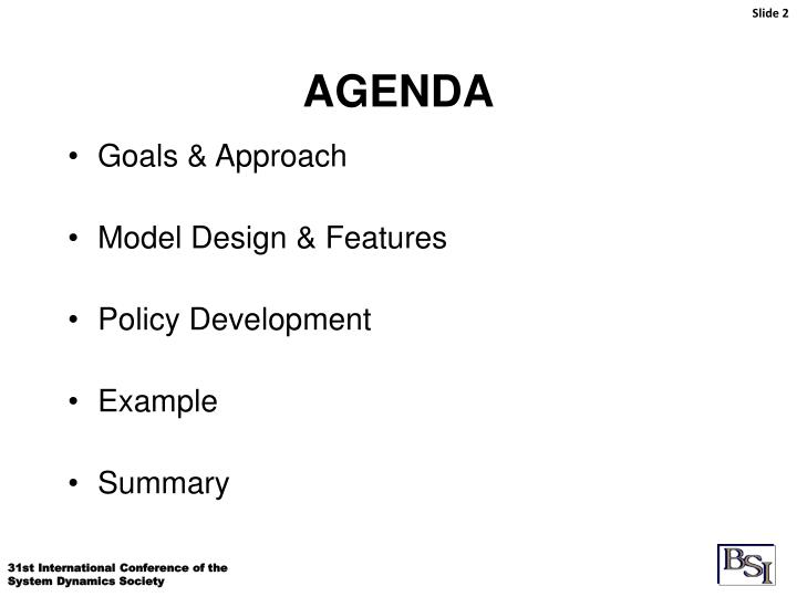 Goals & Approach