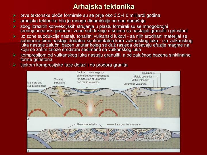 Arhajska tektonika