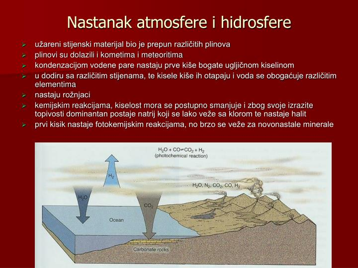 Nastanak atmosfere i hidrosfere