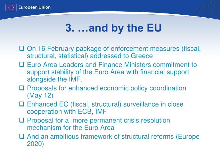 3. …and by the EU