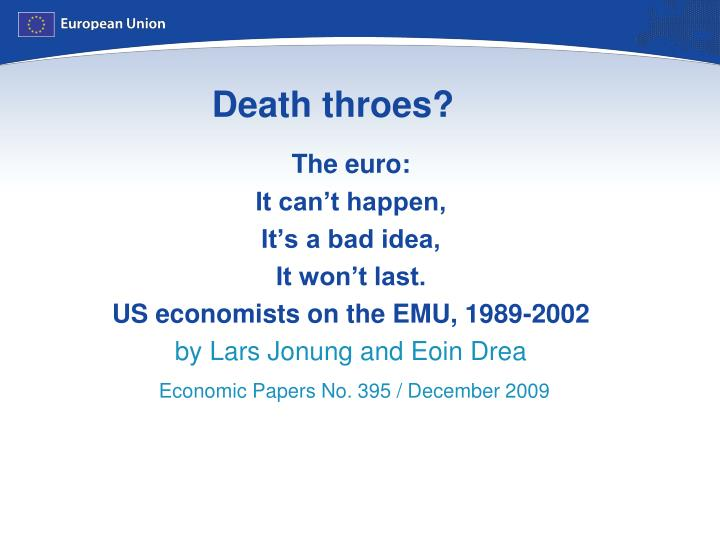 Death throes?