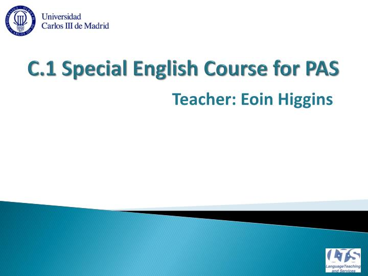 C 1 special english course for pas