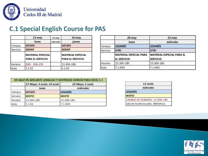 C 1 special english course for pas1