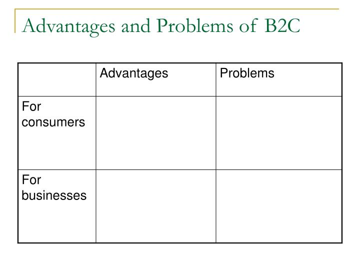 Advantages and Problems of B2C