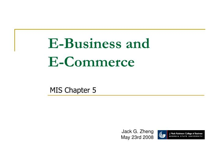 E-Business and